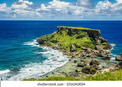 August 2014. Forbidden island on the Saipan island.