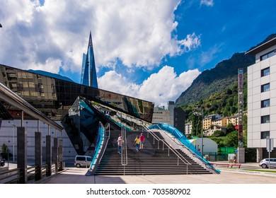 August 2017: Caldea Thermal balneary in Escaldes, Andorra.