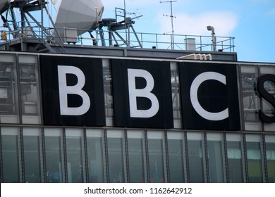 "AUGUST 2017 - GLASGOW: the logo of the brand ""BBC""."