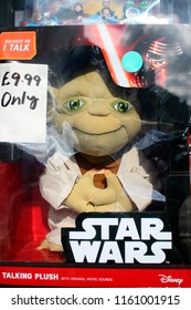 "AUGUST 2017 - GLASGOW: the ""Yoda"" firgure of the ""Star Wars""- series, Glasgow, Scotland."