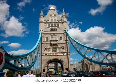 AUGUST 2017 - LONDON: Tower Bridge, London, England.