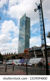 AUGUST 2017 - MANCHESTER: Beetham Tower, England.