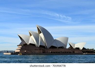 August 2017: The Sydney Opera House in the Circular Quay area in the City of Sydney, New South Wales, Australia.