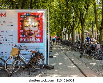 August 2018 - 's-Hertogenbosch, Netherlands: Large advertisement for the yearly Boulevard street theater festival
