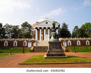 August 21, 2010: University of Virginia, Charlottesville, Virginia.  Thomas Jefferson founded the University of Virginia in 1819 by Declaration of Independence Author Thomas Jefferson.