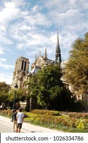 August 21, 2016, Paris, France - Notre Dame Cathedral