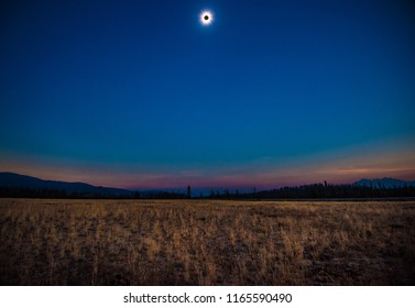 August 21, 2017 American Total Corona Solar Eclipse, captured in the path of totality in the mountains of Stanley, Idaho.