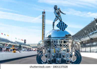 August 21, 2020 - Indianapolis, Indiana, USA: The Borg Warner Trophy goes on display before the final practice for the Indianapolis 500 at Indianapolis Motor Speedway in Indianapolis Indiana.