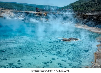 August 22, 2017 - Excelsior Geyser Crater in Yellowstone National Park