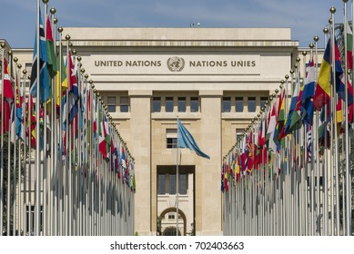 August 23 2017 Geneva Switzerland The Palace of Nations  is the home of the United Nations Office