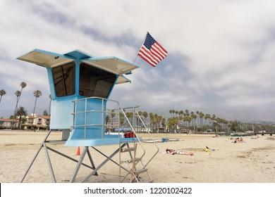 August 23, 2018 - Santa Barbara, CA: Baywatch Cabin in Santa Barbara, California.