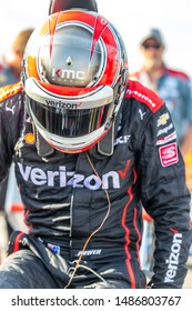 August 23, 2019 - Madison, Illinois, USA: WILL POWER (12) of Toowoomba, Australia  prepares to qualify for the Bommarito Automotive Group 500 at World Wide Technology Raceway in Madison, Illinois.