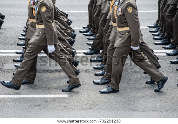 August 24, 2017. Kyiv, Ukraine. Military parade for the Ukrainian Independence Day.