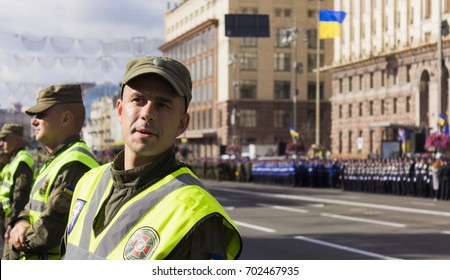 August 24, 2017. Ukraine's Independence Day. Military parade