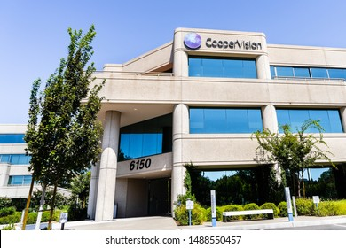 August 25, 2019 Pleasanton / CA / USA - CooperVision headquarters; CooperVision, Inc., a soft contact lens manufacturer, is a business unit of The Cooper Companies, Inc (global medical device company)