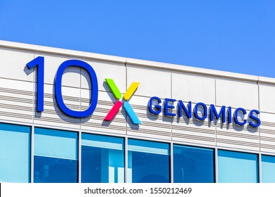 August 25, 2019 Pleasanton / CA / USA - 10x Genomics headquarters in Silicon Valley; 10x Genomics is an American biotechnology company that designs and manufactures gene sequencing technology