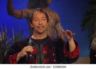 """AUGUST 26, 2005 - BERLIN: DJ Bobo performing at a television production """"The Great Summer Hit Festival"""" in Berlin."""