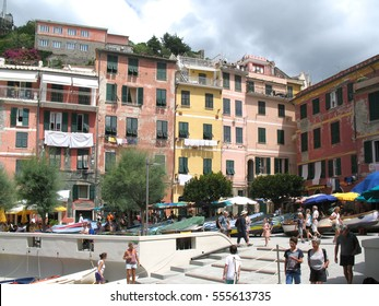 August 26, 2016.  Picturesque colorful houses of Vernazza, fishing village in Five lands, Cinque Terre National Park, Liguria, Italy.