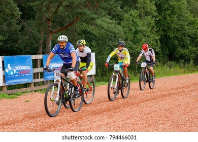 August 26, 2017, Bicycle race Akkesport, Narva, Estonia. Participants race rides on he bicycle at high speed
