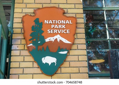 August 26, 2017 Richmond/CA/USA - United States National Park Service (NPS) emblem. NPS is an agency of the United States federal government.