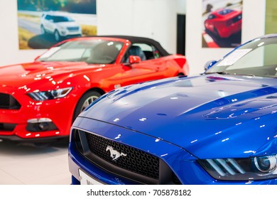 august 26th, 2017, ford car dealer shop in seoul, south republic korea, ford is famous car brand of usa in the world