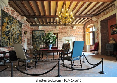 August 28, 2013. Interior of Clos Luce mansion in Amboise. Leonardo da Vinci lived here for the last three years of his life and died there on 2 May 1521.