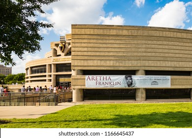 August 28. 2018. Aretha Franklin's funeral. Public begins paying last respects to Aretha Franklin at the Charles H. Wright Museum of African-American history to say goodbye, Detroit, Michigan, USA.