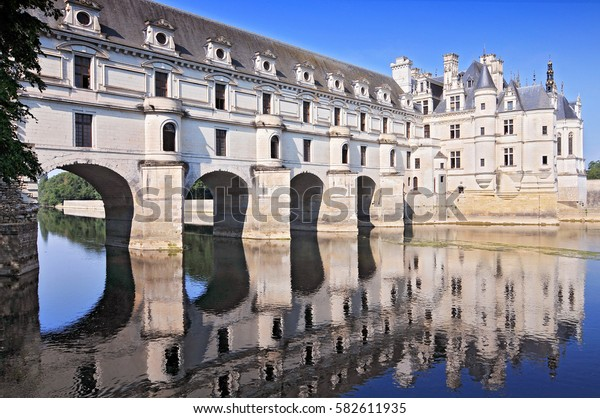 August 29, 2013 Chateau de Chenonceau France. This castle is located near the small village of Chenonceaux in the Loire Valley in France.