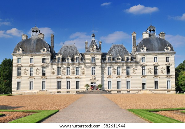 August 30, 2013 Cheverny. Castle built in the seventeenth century in the style of Louis XIII in Cheverny France.