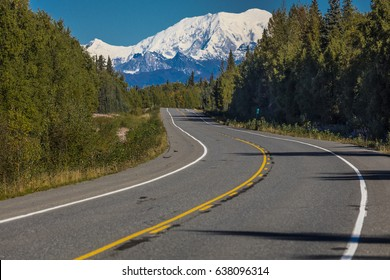 AUGUST 31, 2016 - Mount Denali from George Parks Highway, Route 3, Alaska - North of Anchorage