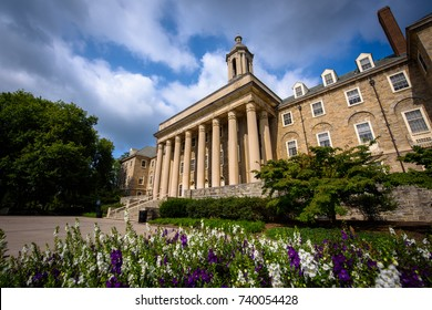 August 31, 2017: The Old Main building on the campus of Penn State University in State College, Pennsylvania.