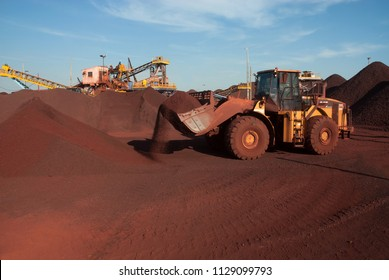 Corumbá, August 5, 2006. Truck transports iron ore from mining company in Corumbá region in Mato Grosso do Sul state, Brazil