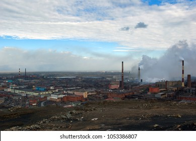 August 5, 2007. Norilsk, Taymyr peninsula, Krasnoyarsk region, Far North, Siberia, Russia. Former biggest site of GULAG. Nickel plant in the old part of the city.