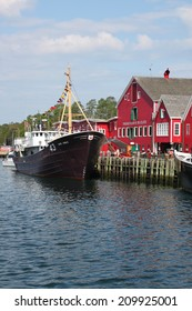 August 5. 2014, Lunenburg, Nova Scotia: View of the famous harborfront of Lunenburg, Nova Scotia a UNESCO world heritage site.