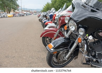 AUGUST 5, 2018, STURGIS, SD: 500,000 bikers bring their motorcycles to Sturgis, South Dakota, for 10 days and nights of the annual Sturgis Motorcycle Rally, where bikes of all types line city streets.