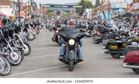 AUGUST 5, 2018, STURGIS, SD: The place to see and be seen for a biker is riding down Main Street, surrounded by bikes and people of every type, at the annual Sturgis Motorcycle Rally in South Dakota.