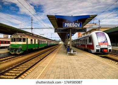 August 6, 2017, Presov, Slovak Republic. Prešov train station.