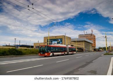 August 6, 2017, Presov, Slovak Republic. Public transport in Prešov.