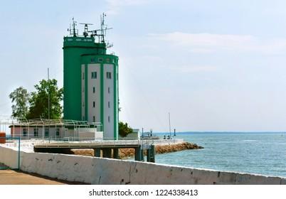 August 9, 2018, Baltiysk, Kaliningrad region, Russia, Pilot tower Baltiysk, post RAID service of the Baltic naval base