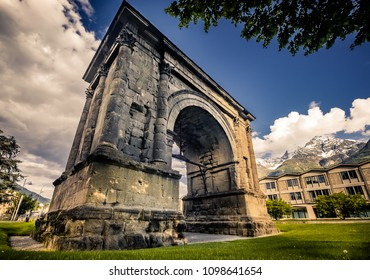 August Arch in Aosta, Aosta Valley (Italy)
