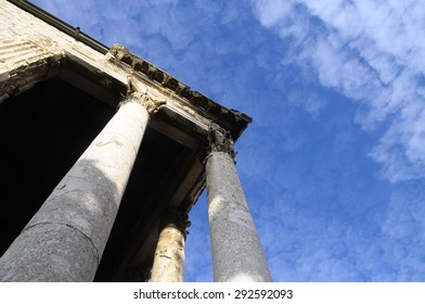 August Roman temple in Pula, Croatia