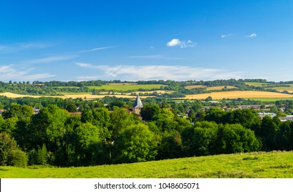An August walk around Westerham in Kent south East England