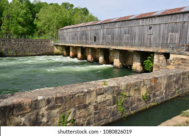 The Augusta canal at Augusta in Georgia