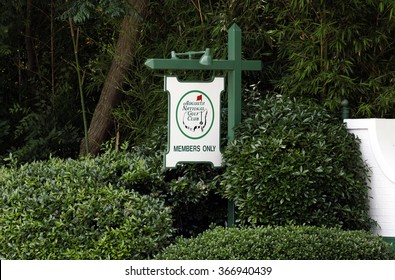 AUGUSTA, GA - MAY 15: An entrance to the Augusta National Golf Club in Augusta, Georgia on May 15, 2015. The Augusta National Golf Club is a country club and home to the annual Masters PGA tournament.