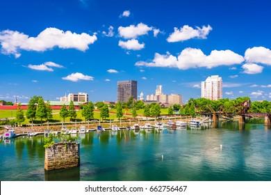 Augusta, Georgia, USA downtown city skyline.