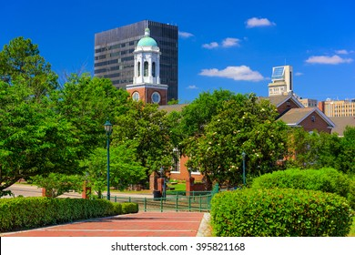 Augusta, Georgia, USA downtown scene at River Walk.