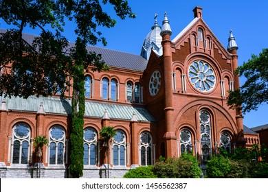 Augusta, Georgia/ USA- May 24, 2019: Sacred Heart Catholic Church in Augusta Georgia taken in the morning