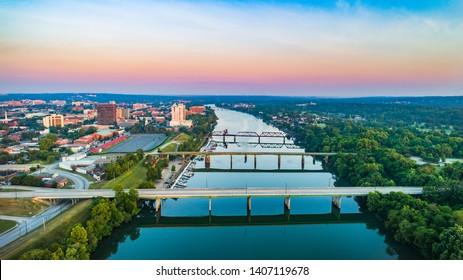 Augusta, Georgia, USA and Savannah River.