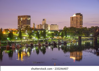 Augusta, Georgia, USA skyline on the Savannah River.