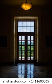 Augusta State Capital, ME, USA - August 8, 2018: The inside grounds of Augusta State Capital
